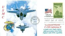 Lockheed Martin F-35B LIGHTNING II USMC STOL Aircraft Photo First Day of Issue