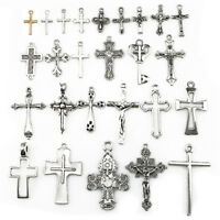 22401 26pcs Antique Vintage Cross Pendant Charm Diy Jewelry Marking