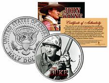 JOHN WAYNE - THE DUKE * Sands of Iwo Jima * JFK Half Dollar US Coin * LICENSED *