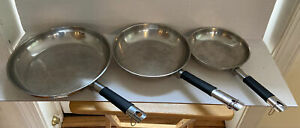 "Tramontina 18/10 Stainless Steel 12"",10"",8"" Frying Pan Saute/Frying Skillet Pans"