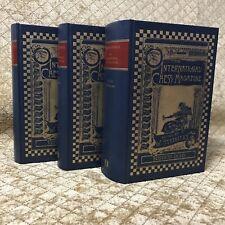 RARE Edition Olms: STEINITZ INTERNATIONAL CHESS MAGAZINE 1885-91; 3 VOL; Judaica