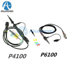 P4100p6100 100mhz Test Porbe High Voltage For Oscilloscope 2kv Alligator Clip