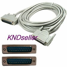 1.8m 6ft Parallel DB25 25 Pin 1284 Male to Male Cable Printer 25 lines Direct