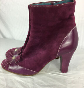37 Marc Jacobs Pearl Detail Purple Boot Bootie Ankle Boots Runway