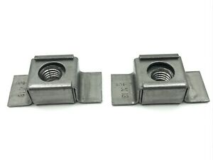 2 pcs 1/2-13 weld in steel cage nuts Fits Chevy GM