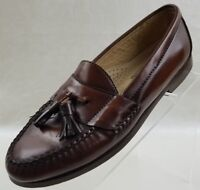 Cole Haan Loafers Moc Toe Tassel Mens Brown Leather Slip On Shoes Size 9B
