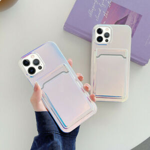 For iPhone 12 Pro Max 11 XS XR 8 7 Shockproof Phone Case with Card Holder Cover