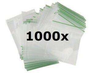 1000xSMALL SEALY GRIP ZIP LOCK BAG SEAL GUMMY BAGS BAGGIES 30/40/50 mm