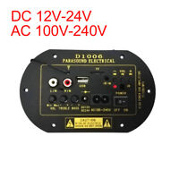 Car DC 12V/24V AC100-240V MP3 TF USB Audio Subwoofer Hi-Fi Bass Amplifier Board