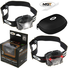 NGT XPR CREE LIGHT 140 LUMENS RECHARGEABLE HEAD LAMP TORCH CASE FISHING HUNTING