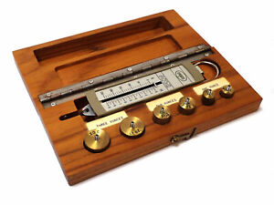 OHAUS SPRING MECHANICAL SCALE 0-250g / 0-9oz w/ WEIGHTS 1-3oz & STORAGE BOX
