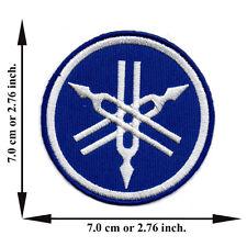 Blue Yamaha Motorcycle Biker Racing Team Club Logo Applique Iron on Patch Sew