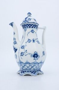 Coffee Pot #1202 - Blue Fluted - Royal Copenhagen - Full Lace - 1:st Quality
