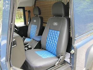 LAND ROVER DEFENDER DIAMOND QUILTED SEAT COVERS-2 FRONT SEATS