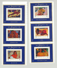 Manama MI #875-882 Gauguin Art 8v Deluxe Sheets on 3v Proofs
