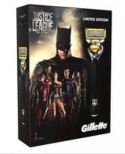 Gillette Fusion ProShield Justice League FlexBall Mens Razor + 4 Blades Gift Set
