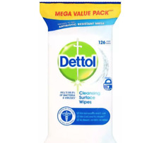 10 x Dettol Surface Cleansing Large Wipes 126 Mega Value Total 1260 wipes