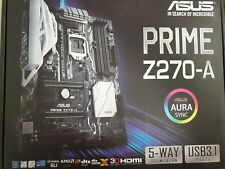 Asus PRIME Z270-A Chipset Intel® Z270 Socket 1151 4x DDR4 Slots M.2 Storage Slot