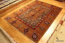 Fine Quality Handmade Persian vegetable Dyed, Natural wool 5 X 7 Ft. Serab Rug
