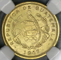 1947 NGC MS 64 Guatemala 1 Centavo Mint State Coin (19052601C)