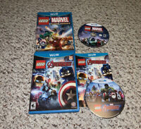 LEGO Marvel's Avengers& Super Heroes Nintendo Wii U Lot Bundle