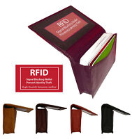 RFID Blocking Leather Men's Wallet Expandable Pocket Credit Card ID Holder New