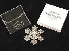 Gorham 1976 Christmas Ornament Sterling Silver Snowflake with Box