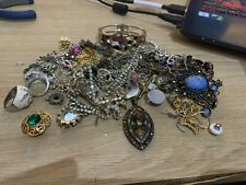 Large Job Lot Of Vintage Costume Jewellery Necklace Brooch Rings