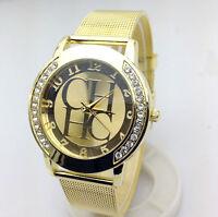 Reloj lujo de mujer mecanismo  cuarzo analógico correa en metal Milanaise malla