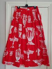 soft surroundings red white maxi skirt medium