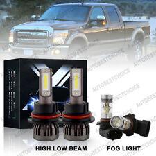 New Listing4Pcs Combo Led Headlight Hi/Low + Fog Light Bulbs 6000K for Ford F-150 1999-2003