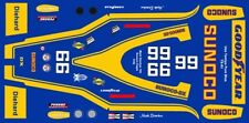#6 Mark Donohue Sunoco 1973 INDY 1/64th HO Scale Slot Car Decals