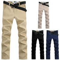 New Stylish Men's Casual Pants Straight Pencil Casual Jeans Trousers Khakis