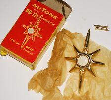 NuTone PB-17L Mid-Century Starburst Illuminated Doorbell. New Old Stock.