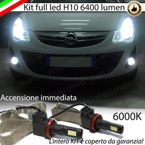 KIT FULL LED OPEL CORSA D RESTYLING LAMPADE H10 FENDINEBBIA CANBUS 6400L 6000K