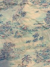 Vintage Tropical Hawaii Fabric 1.5 Yards Retro Cotton Floral