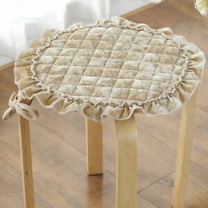 Chair Cushions Round Velvet Warm Seat Cushion Bolster Buttocks Pad Traditional