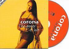 CORONA - The power of love CD SINGLE 2TR French Cardsleeve 1997 PODIS ItaloDance