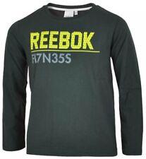 T-shirts et hauts coton mélangé à longueur de manche manches longues à motif Logo pour garçon de 2 à 16 ans
