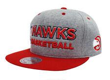 Atlanta Hawks Snapback Mitchell & Ness Heather Jersey Cap Grey Red