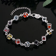 Unisex Women's 925 Sterling Silver Bracelet Adjustable Size L8
