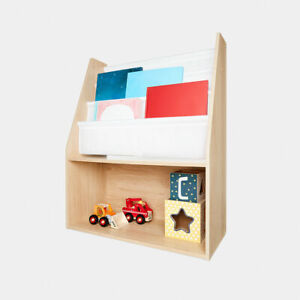 New KIDS Childrens Wooden Book DISPLAY SHELF TOY Storage UNIT SA