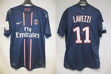 Maillot PARIS SAINT-GERMAIN PSG 2013 porté LAVEZZI 11 match worn shirt jersey L