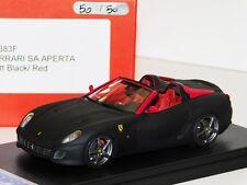 FERRARI SA APERTA MATT BLACK / RED LOOKSMART LS383 LIM. 1/50 (NBR 50/50)  1/43