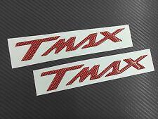 Coppia Adesivi 3D resinati Tmax T Max CARBONIO ROSSO