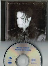 MICHAEL JACKSON Who Is It Remixes JAPAN CD w/6p PS BOOKLET ESCA 5652 No OBI