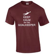 Keep Calm I'm The Goalkeeper T-Shirt - Funny Football Fan Unisex Kids & Mens Top