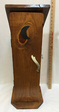 "Outhouse Style Toilet Paper Holder Storage 28"" Tall Wood Antler Handle Cabinet"