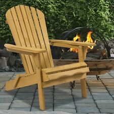 New listing Best Choice Products Outdoor Adirondack Wood Chair Foldable Patio Lawn Deck