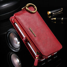 Luxury Genuine Leather Cover Flip Wallet Case For iPhone 7 Plus 6s Samsung S8 S7
